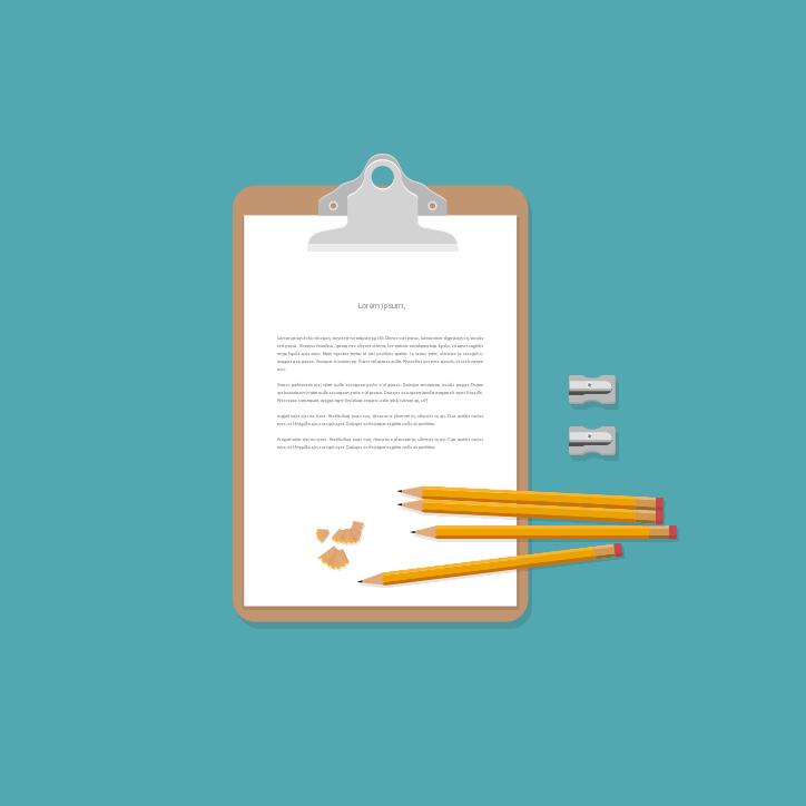 Schreibblock mit Bleistiften