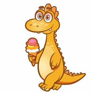 Vektor-Illustration_Dinosaurier für Kinder