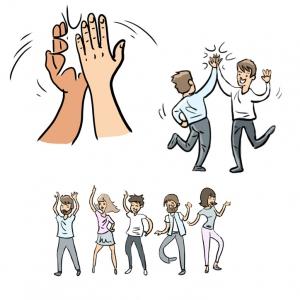 Erflärfilm Illustrationen, tanzende